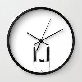 Prince Bunny III Wall Clock