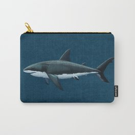 """Carcharodon carcharias"" by Amber Marine  ~ Great White Shark Art, (Copyright 2015) Carry-All Pouch"