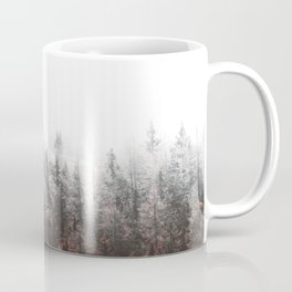 Misty Pine Forest Minimalist Modern Foggy Landscape Photography Coffee Mug