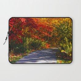Paved Autumn Path Laptop Sleeve