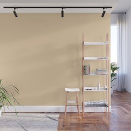 Neutral Bright Beige - Tan - Khaki Solid Color Parable to Pantone Cornhusk 12-0714 Wall Mural