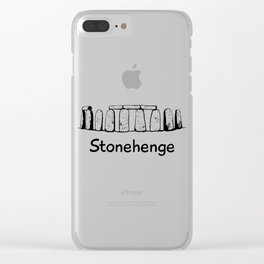 Stonehenge Rock Monument Gift Clear iPhone Case