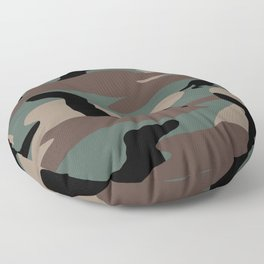 Camo Weiner Dogg Floor Pillow