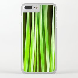 Tropical Green Riverweed Clear iPhone Case