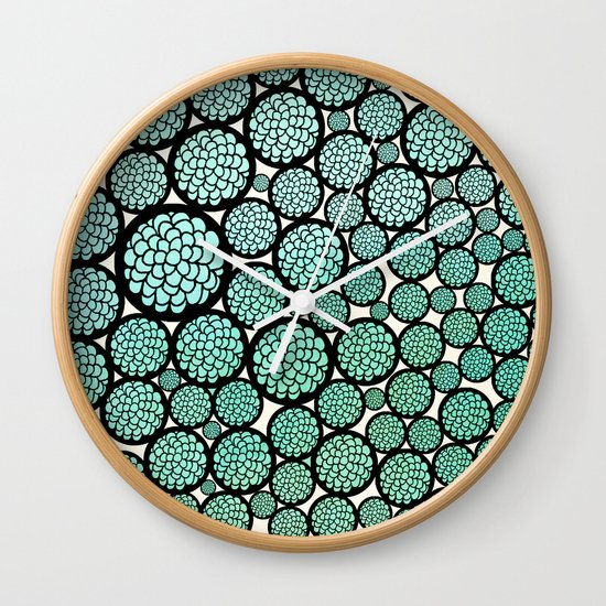 Blooming Trees Wall Clock