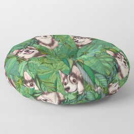 Pomsky Garden Floor Pillow