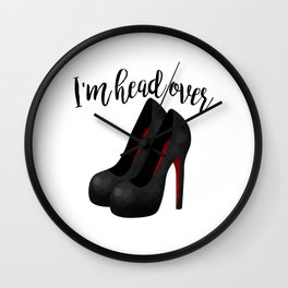 I'm Head Over Heels Wall Clock