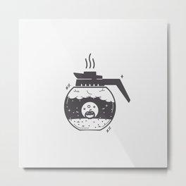Halloween in a coffee maker!! Metal Print