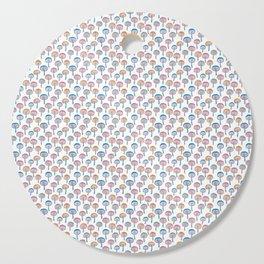 Pattern Project / Mushroom Pattern (White) Cutting Board