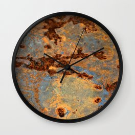 Rusted Reefs Wall Clock