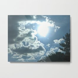 Clouds are coming! Metal Print