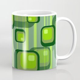 Vintage Rectangles green with stripes Coffee Mug