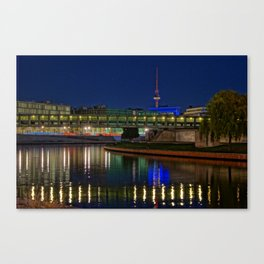 Spree and Fernsehturm Canvas Print