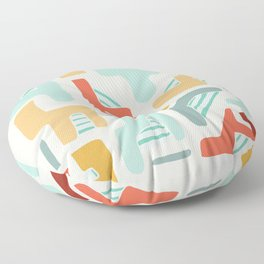 Water Reserve Abstract Illustration Floor Pillow