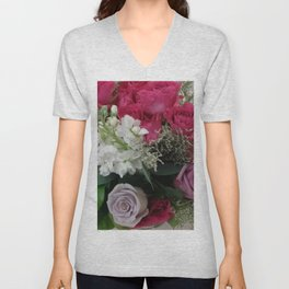 Romantic Roses Unisex V-Neck