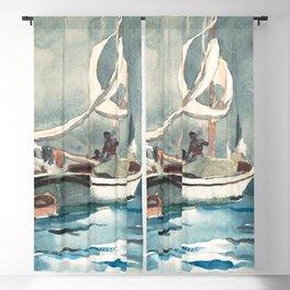 Winslow Homer's Sloop, Nassau (1899) Blackout Curtain
