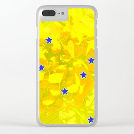 Flowers and stars Clear iPhone Case