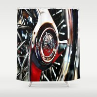 pacific rim Shower Curtains featuring rim by LeicaCologne Germany