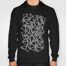Abstract New White on Black Hoody