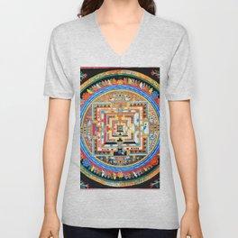 Mandala Buddhist 8 Unisex V-Neck