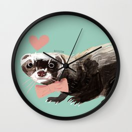 Love : Mustelid Valentine Wall Clock