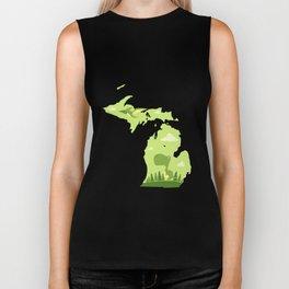 Michigan Cute T-rex T-shirt Dinosaur States Kids Gift Biker Tank