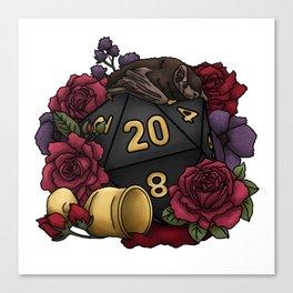 Vampire D20 Tabletop RPG Gaming Dice Canvas Print