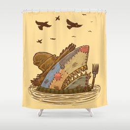 The Scarecrow Shark Shower Curtain