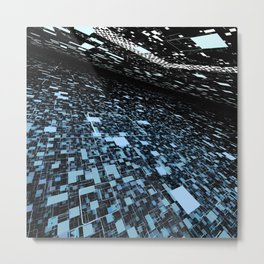 In 2048, nature will change to a digital intelligent world Metal Print