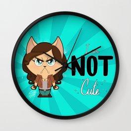 I am NOT cute (Full body + text) Wall Clock