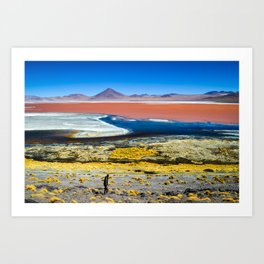 Laguna Colorada Art Print