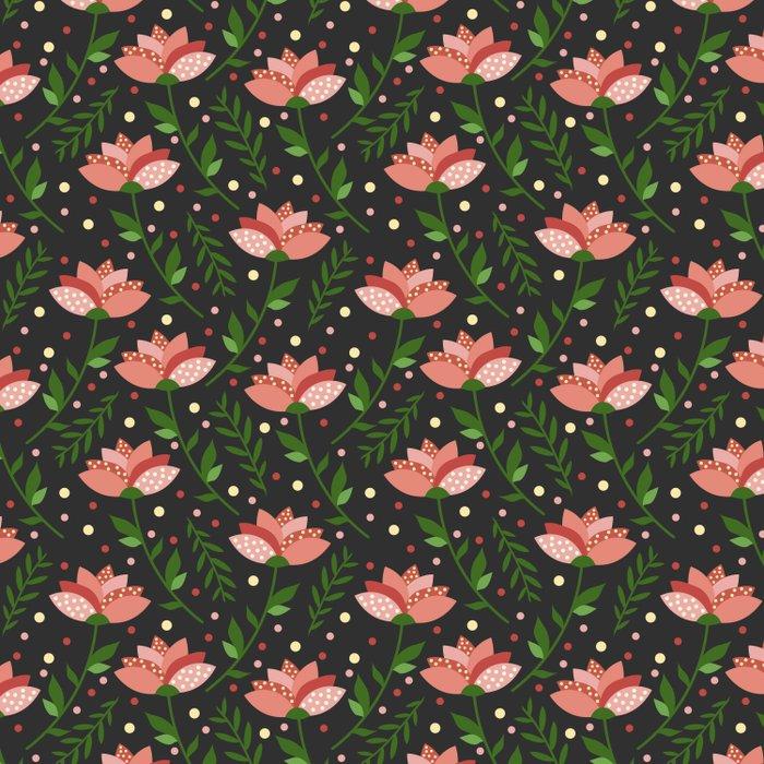 Floral grey pattern. Duvet Cover