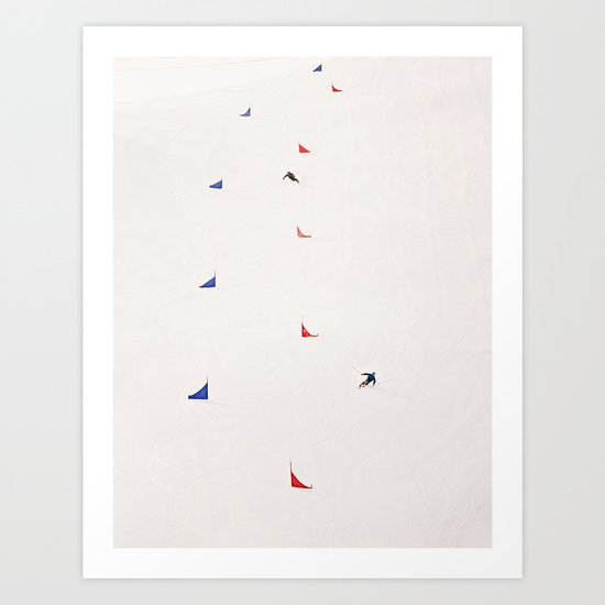 i'd rather be skiing Art Print