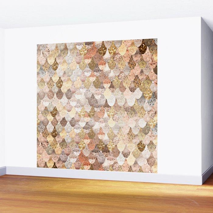 MERMAID GOLD Wall Mural