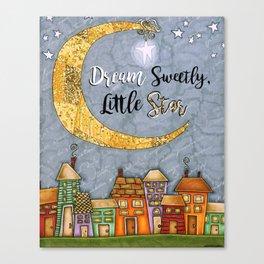 Dream Sweetly, Little Star Canvas Print