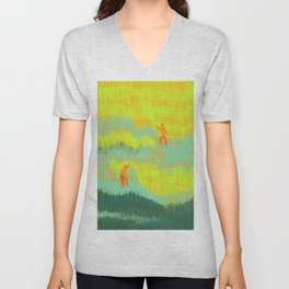 Through the Fields Unisex V-Neck