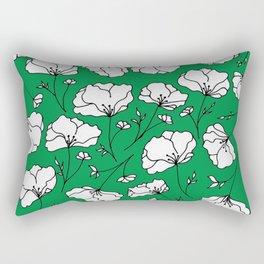 Green Spring Florals Rectangular Pillow