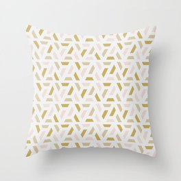 Bright abstract geometric pattern Throw Pillow