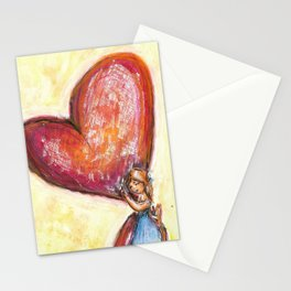 Mother love watercolor illustration Stationery Cards