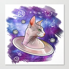 Space cat 2 Canvas Print