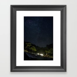 Chimaera and the Galaxy Framed Art Print