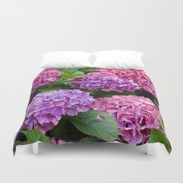 Pink & Purple Flowers Duvet Cover