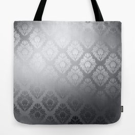 """Neutral gray Damask Pattern"" Tote Bag"