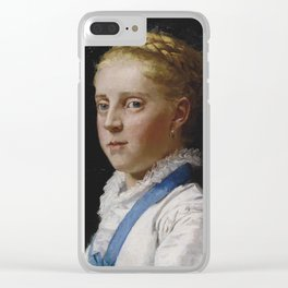 Albert Anker , Portrait of Frieda Moser, 1875 Clear iPhone Case