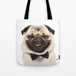 Helmut the Pug - Bow Tie Tote Bag