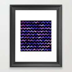 Chevron Galaxy Framed Art Print