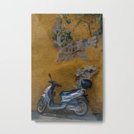 Scooter in Villiefrance Metal Print