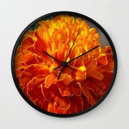 African Marigold Wall Clock