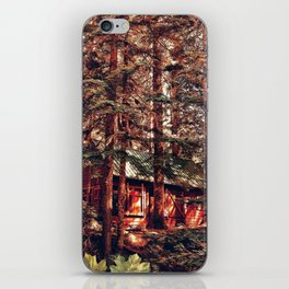 Crimson Cabin iPhone Skin
