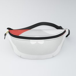 Skull Heart Valentines Day Pirate Flag Fanny Pack
